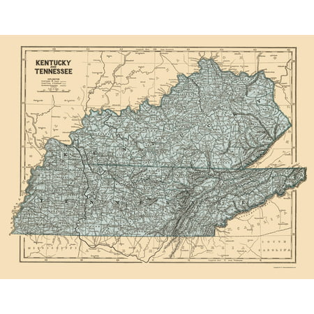 Old State Map Kentucky Tennessee Morse 1845 23 X 29 50