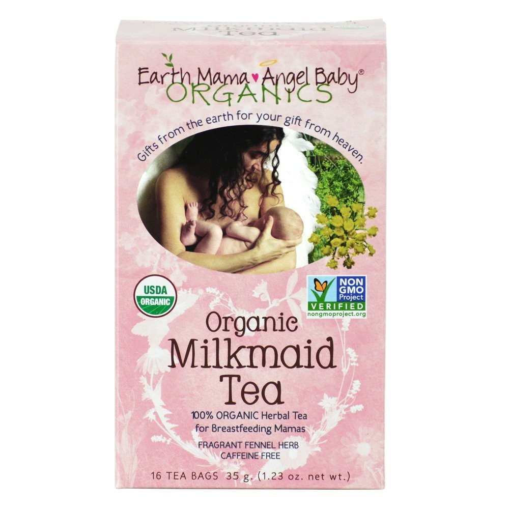 Earth Mama Angel Baby Organic Milkmaid Tea, 16 Teabags-2 Pack