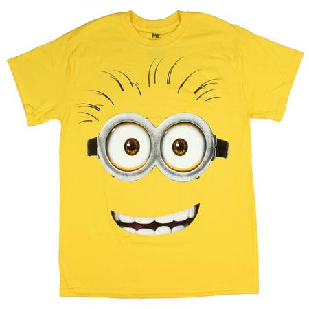 20dea172b Despicable Me - Despicable Me Minion Smile with Teeth Adult T-Shirt -  Walmart.com
