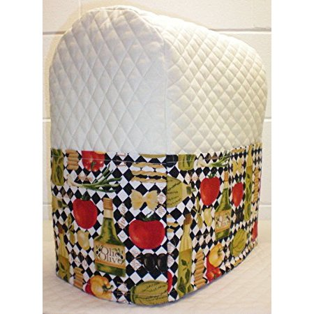 Quilted Italian Kitchen Theme Cover for Kitchenaid 7 Quart Lift Bowl Stand Mixer (