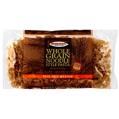 Manischewitz Whole Grain Medium Noodle Pasta, 12 oz (Pack of 12)