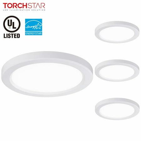 Torchstar 4 Pack Energy Star Dimmable Led Flush Mount