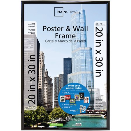 "Mainstays 20"" x 30"" Trendsetter Poster and Picture Frame, Black"