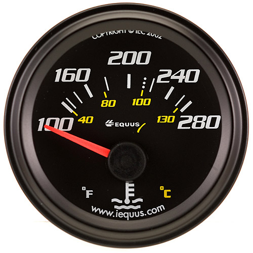 "Equus 2"" Electric Water Temperature Gauge"