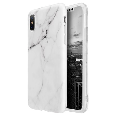 competitive price 8163b 07fde Luxury Marble Design Pattern Soft TPU Phone Case Cover for Apple iPhone X -  WHITE