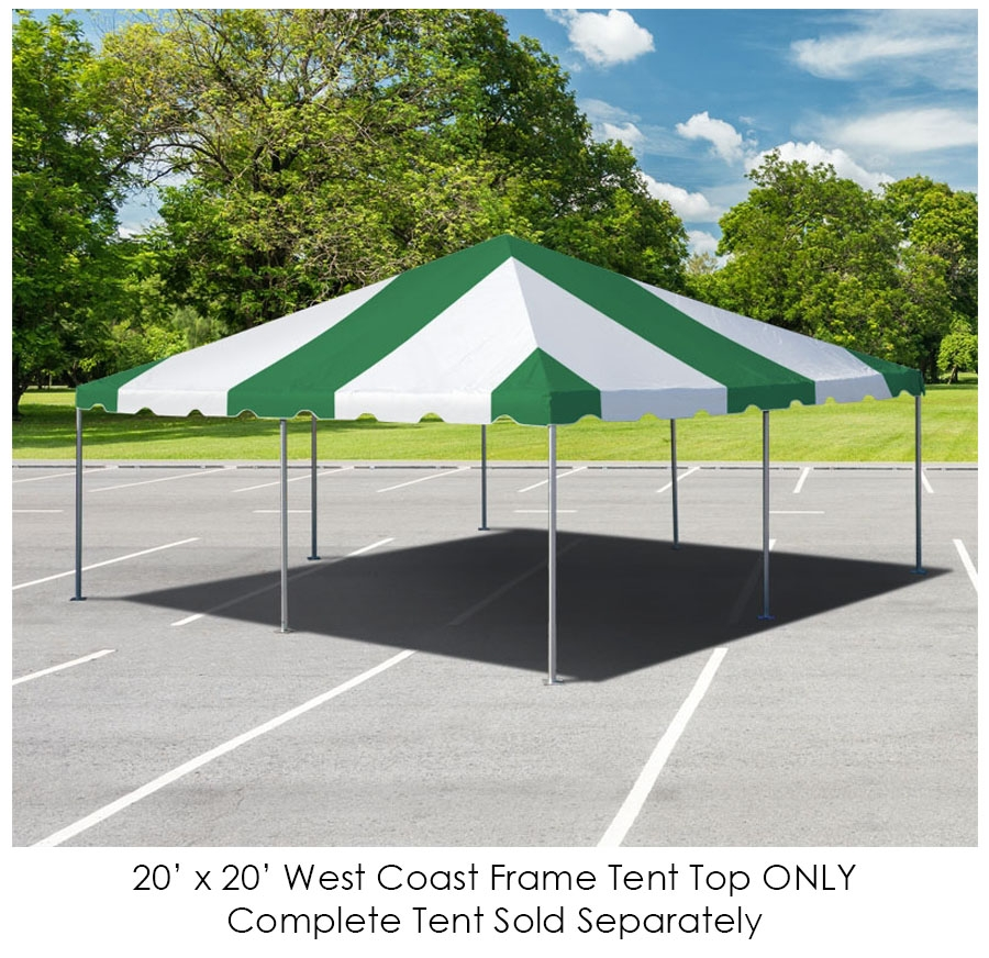 Party Tents Direct 20x20 Outdoor Wedding Canopy Event Tent Top ONLY, Blue