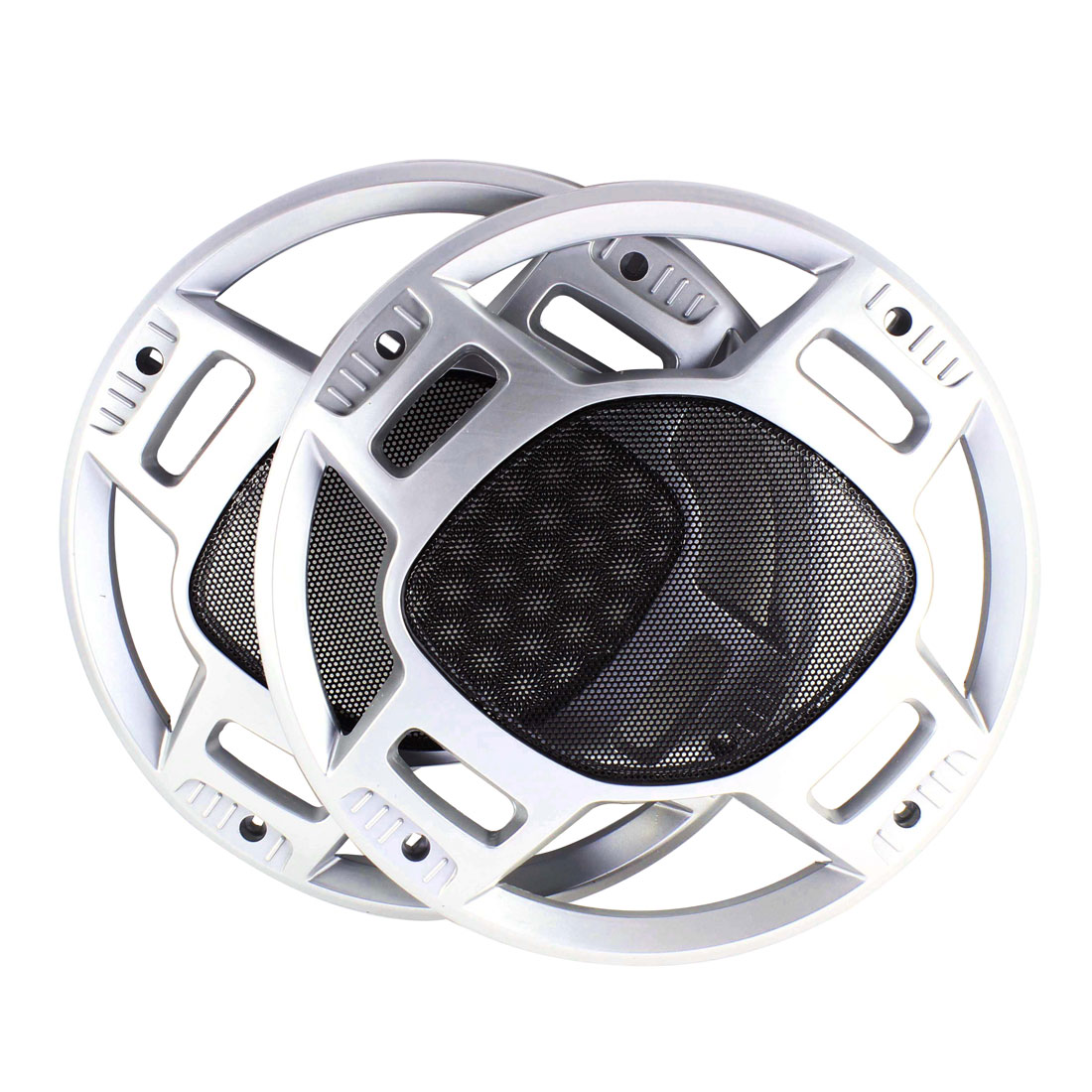 "Unique Bargains Car 10.6"" Dia Plastic Mesh Speaker Sub Box Subwoofer Grill Horn Cover x 2"