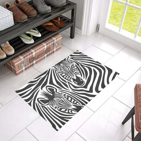 Zebra Bath Rugs - MKHERT Zebra Doormat Rug Home Decor Floor Mat Bath Mat 23.6x15.7 inch