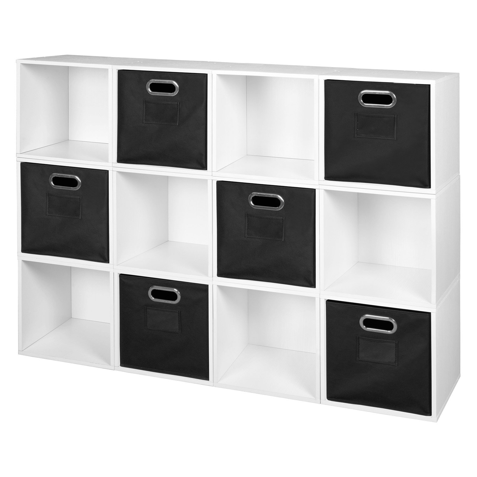 Niche Cubo Storage Set - 12 Cubes and 6 Canvas Bins