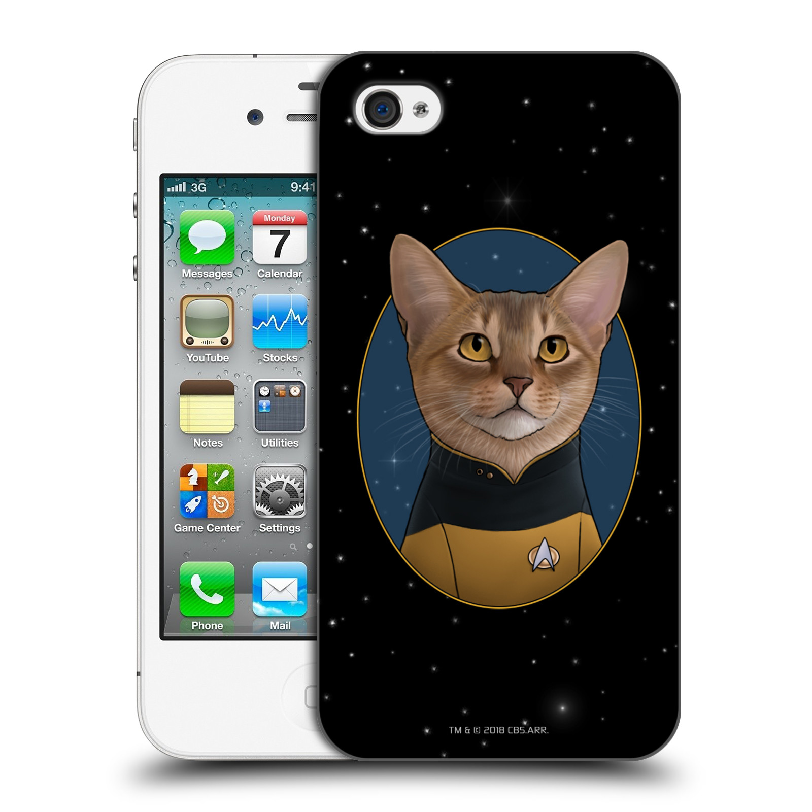 OFFICIAL STAR TREK CATS TNG HARD BACK CASE FOR APPLE IPHONE PHONES