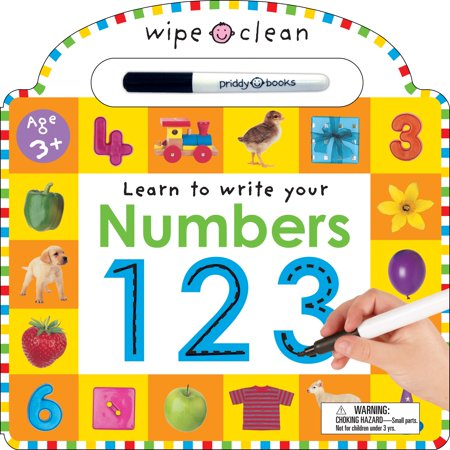 Numbers 1 2 3 [With Erasable Marker] (Board Book) - Three Boobs