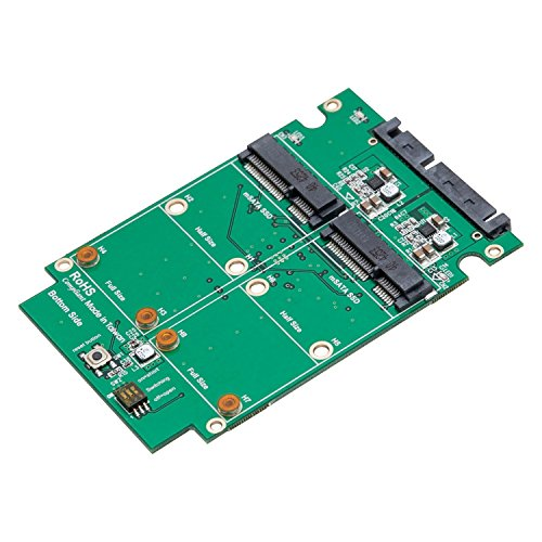 SYBA SY-ADA40090 Dual mSATA SSD to SATA III RAID Enclosure with Complete Screw Set