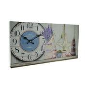 Zeckos - Beach Themed Decorative Wood Wall Clock (Gray) - Gray