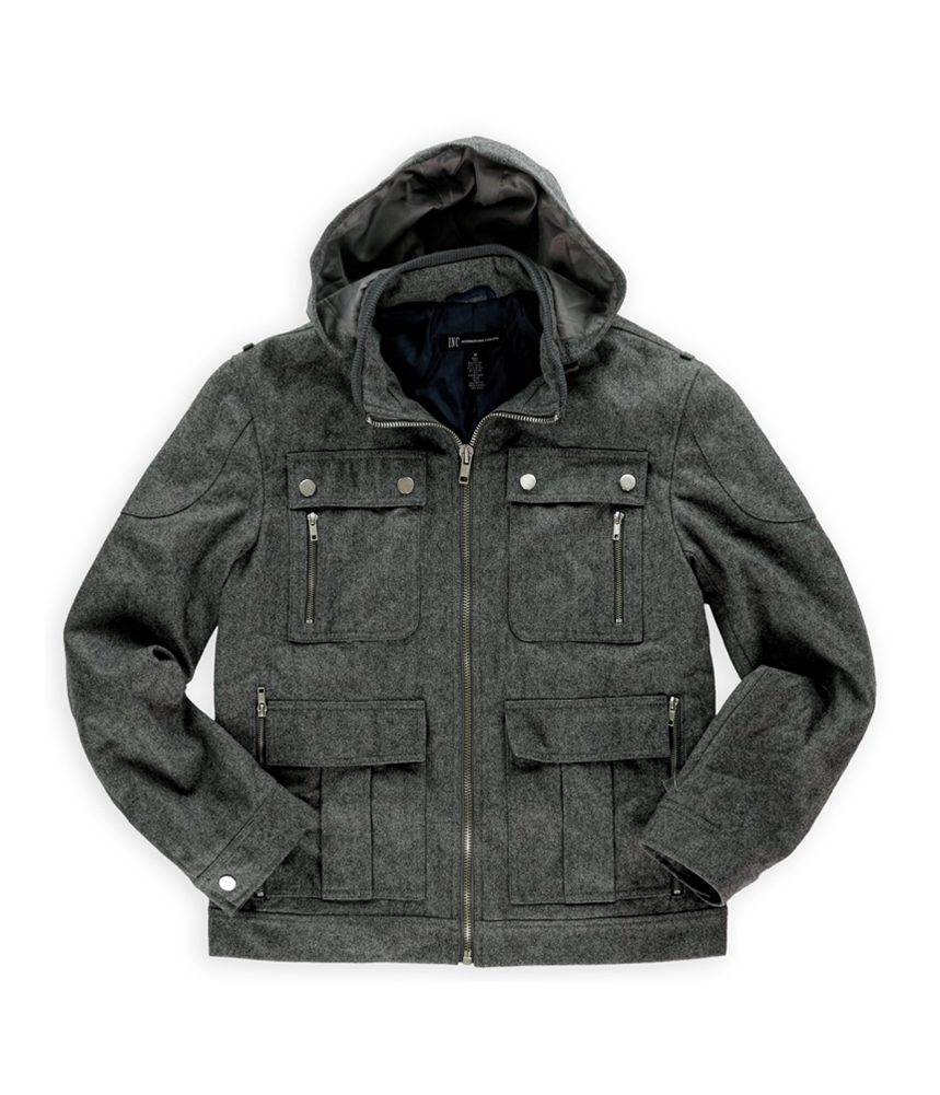 I-N-C Mens Wool Blend Field Jacket by