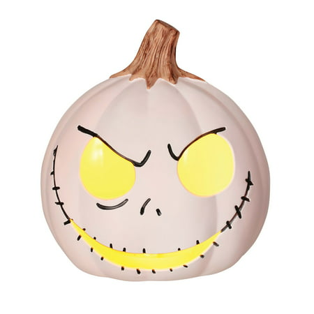 The Nightmare Before Christmas 6-inch Jack Skellington White Light-Up Pumpkin