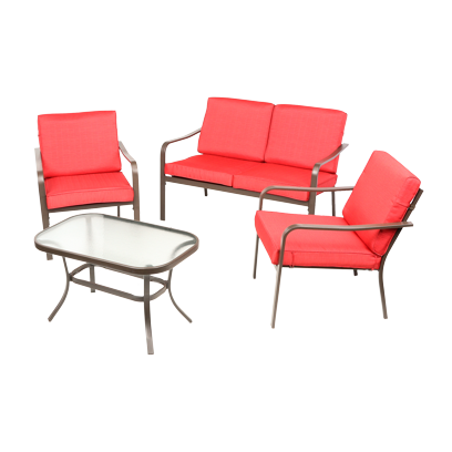 Mainstays Stanton Cushioned 4-Piece Patio Conversation Set