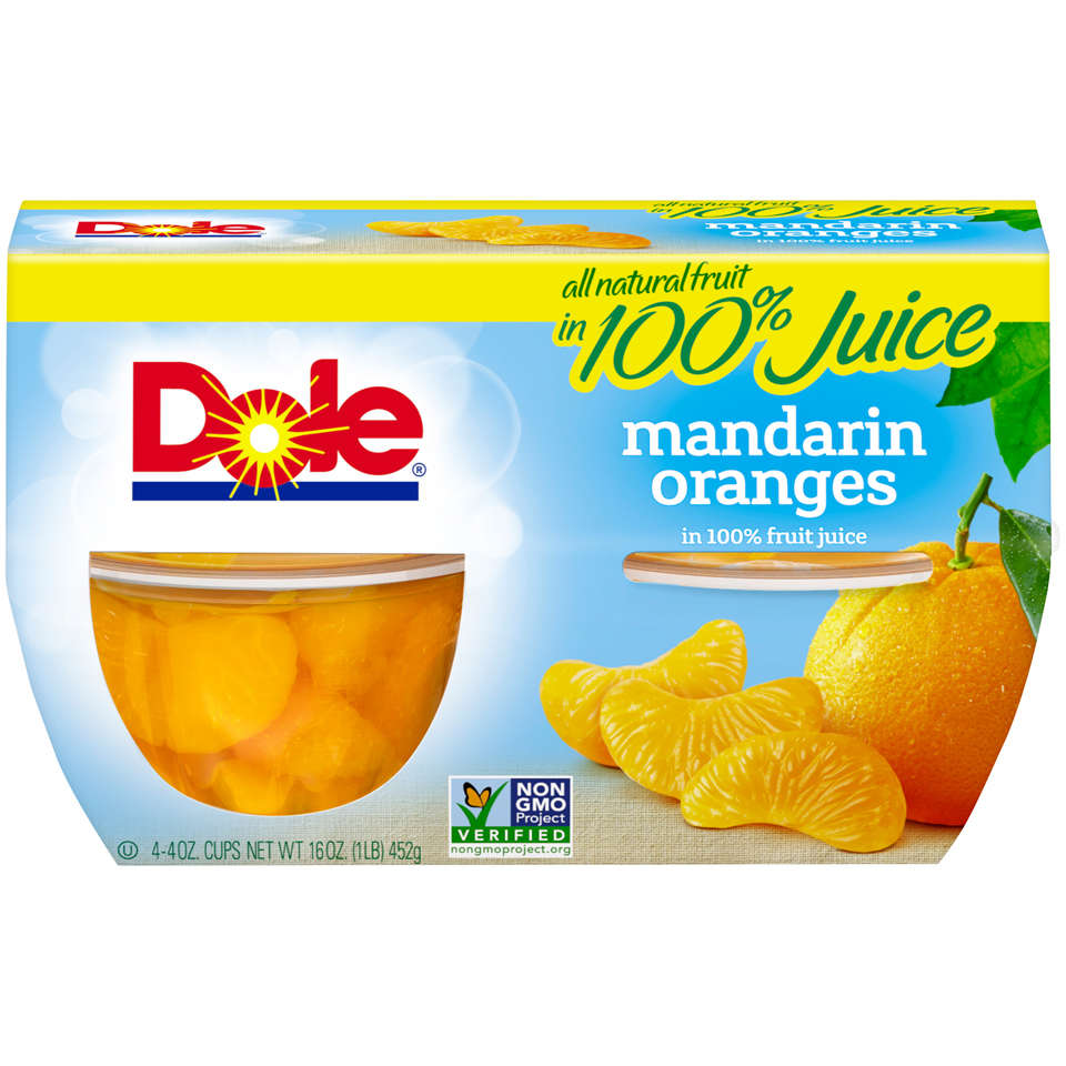 Dole Mandarin Oranges in 100% Fruit Juice 4-4 oz. Cups