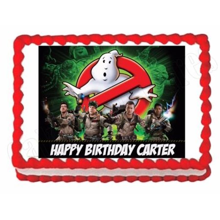 1/4 Sheet Ghostbusters Edible Frosting Cake Topper* - Ghostbusters Decorations