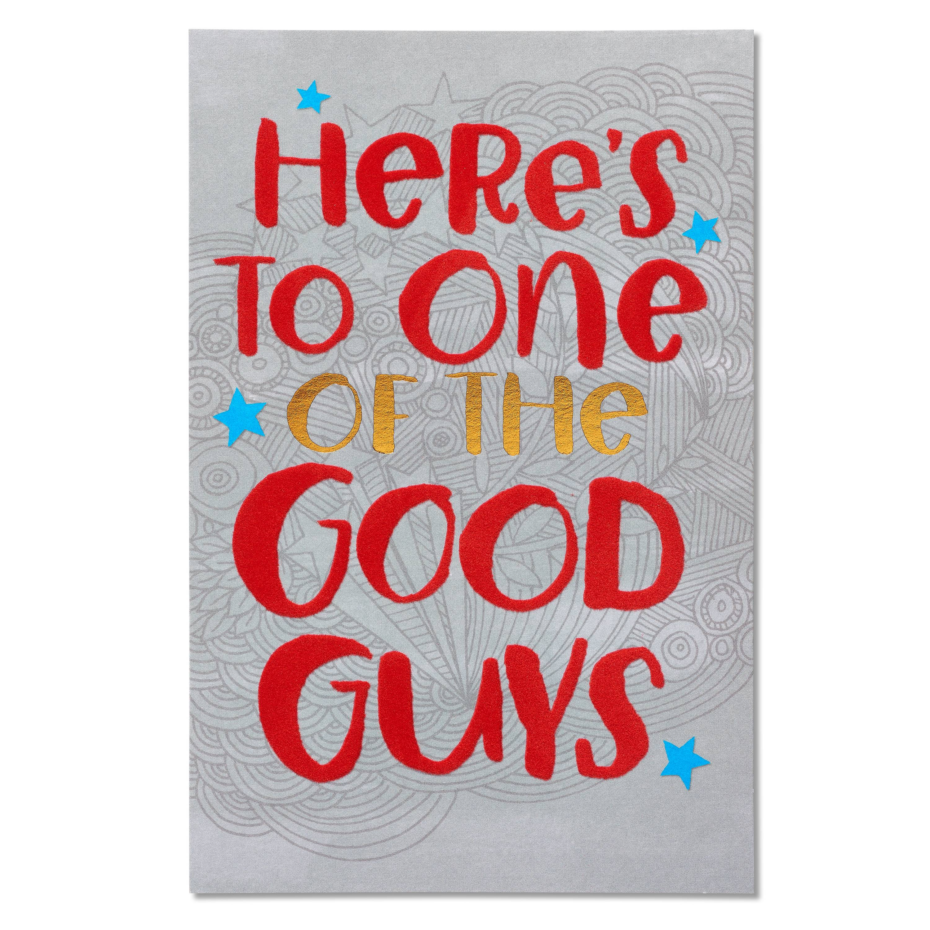 American Greetings Good Guys Birthday Card with Foil