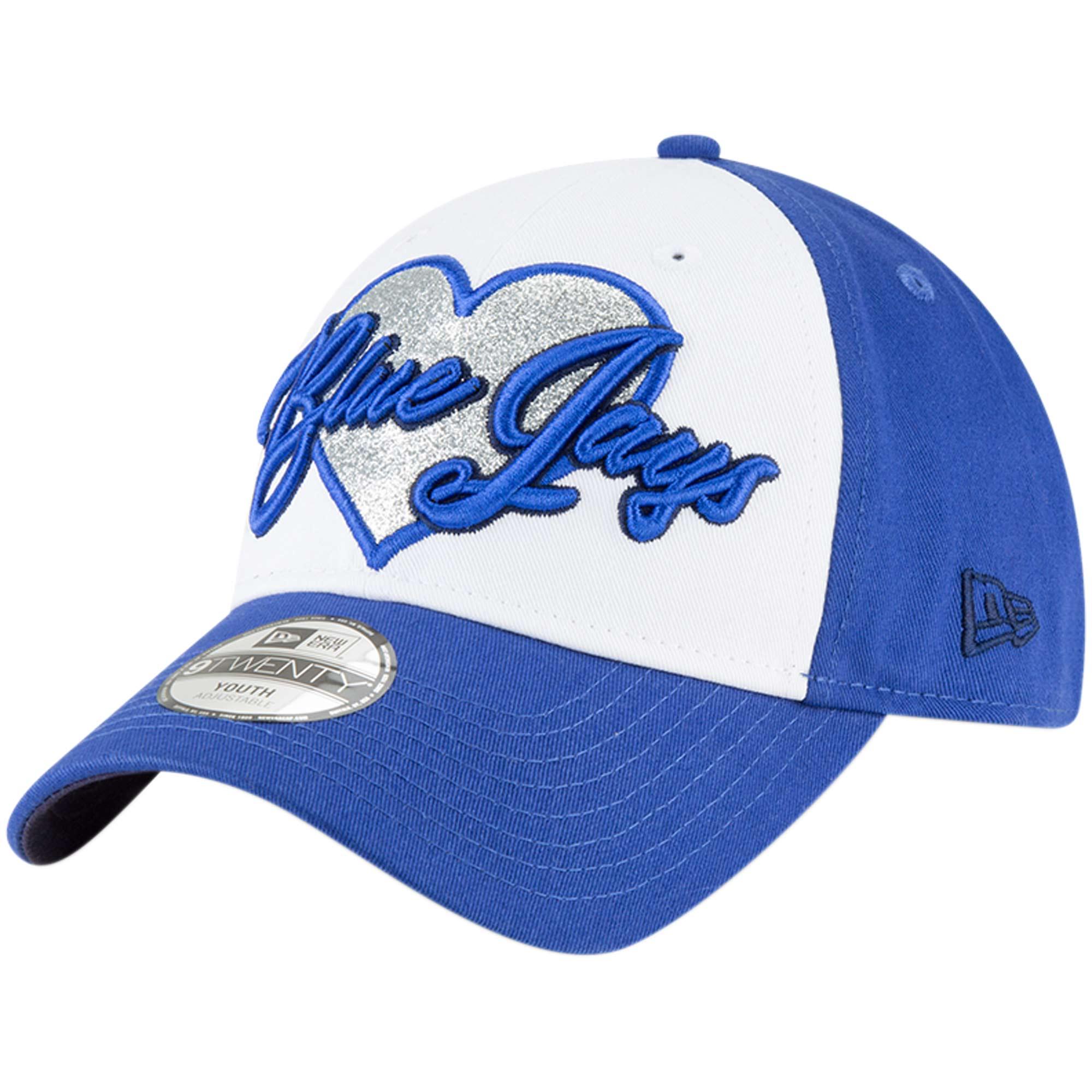 Toronto Blue Jays New Era Girls Youth Sparkly Fan 9TWENTY Adjustable Hat - Royal - OSFA