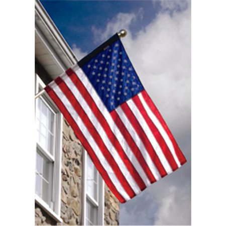Valley Forge Flag American 2-Sided Nylon 2.5 x 4 ft. Flag Set (Nylon Valley Forge)