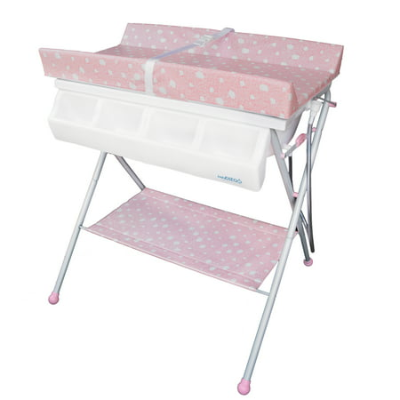 Pronto Changer - Standard Bathinette (Foldable Bathtub and Changer Combo) in Pink