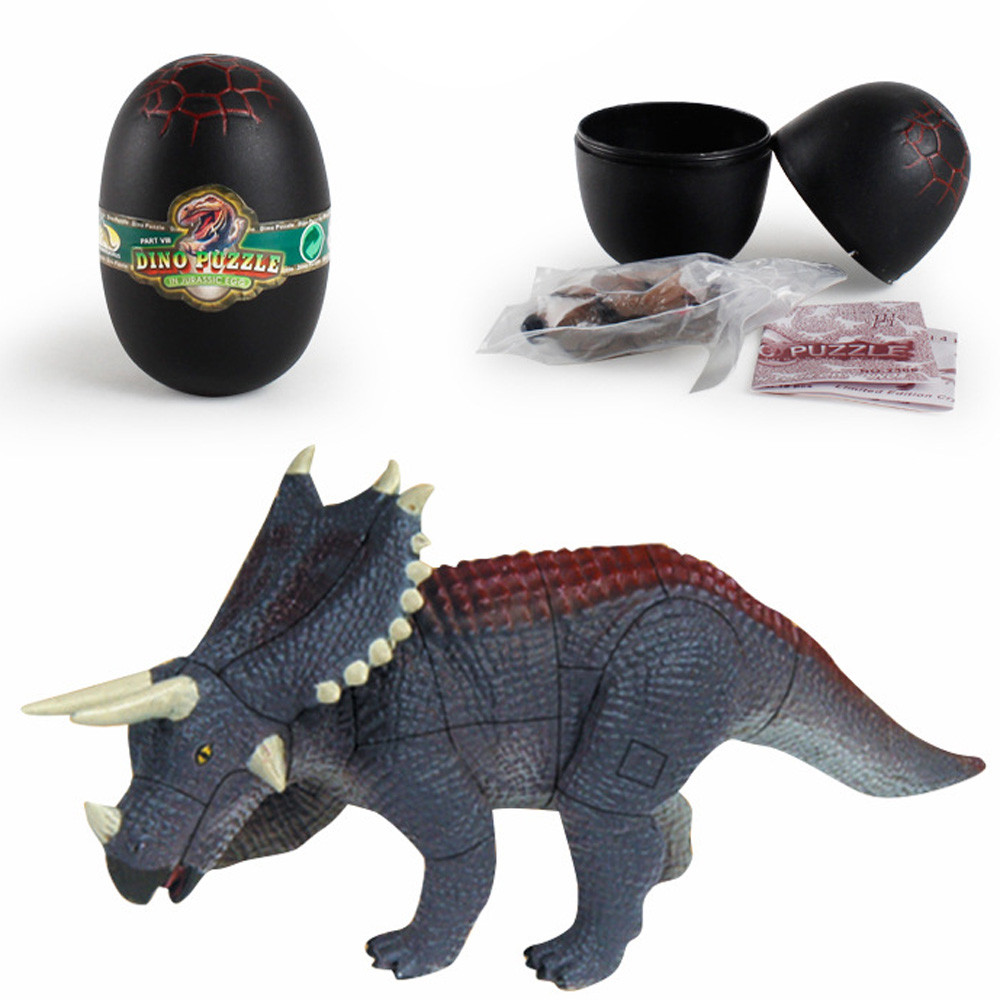 Mosunx Creative Simulation Dinosaur Toy Model Deformed Easter Dinosaur Egg Collection