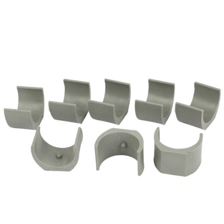 Unique Bargains 38mm Dia. Nonslip Plastic Round Pipe Clamp Foot Pads for Chair 8Pcs Gray