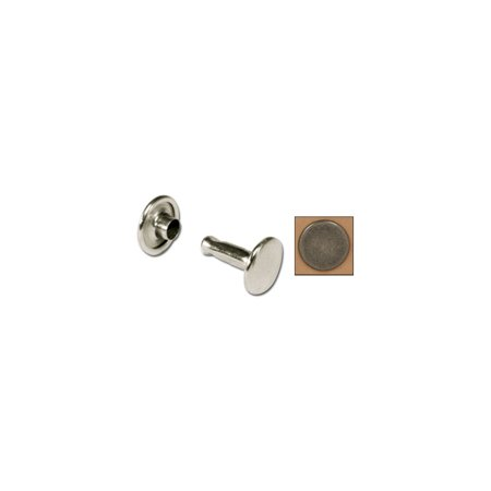 Tandy Leather Double Cap Rivets Small Antique Nickel Free Plate 100/pk 1371-16
