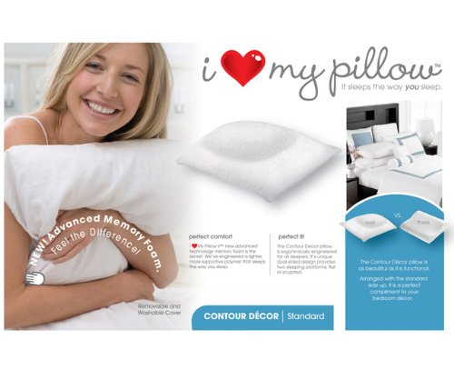 I Love My Pillow King Size Contour Pillow by