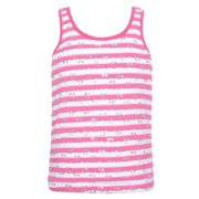 Little Girls Pink White Striped Paillette Top Camisole 4