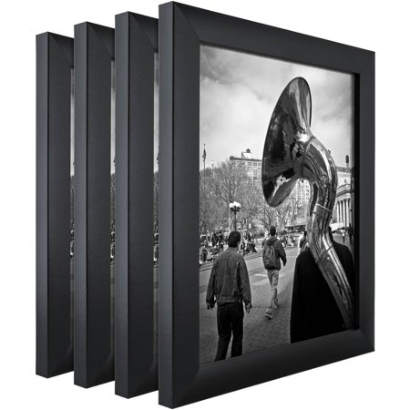 Craig Frames Contemporary Gallery Black Picture Frame, Set of 4 ...