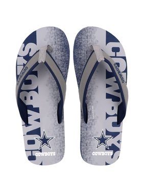 f5c010faaa81b5 Product Image Dallas Cowboys Men s Contour Fade Woodmark Flip Flop