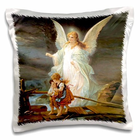 3dRose Guardian Angel, Pillow Case, 16 by 16-inch