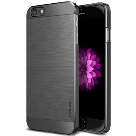 OBLIQ, iPhone 6S Case [Slim Meta][Titanium Space Gray] Premium Slim Fit Thin Metallic Brushed All Around Shock Resistant PC Protective Cover for iPhone 6 & iPhone 6S