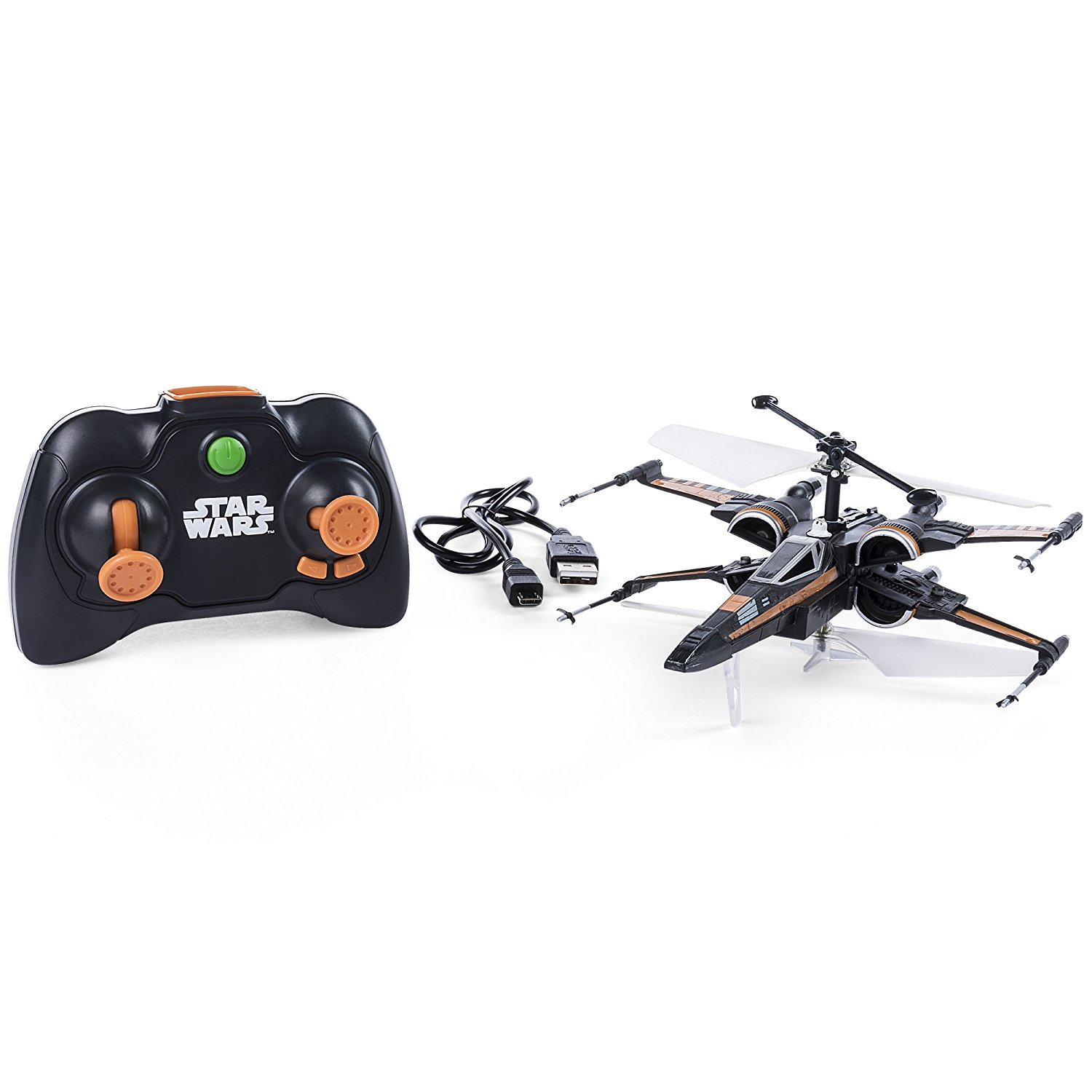 Air Hogs � Poes Boosted X-wing Fighter, Single Rotor Star Wars, Toy Jet by