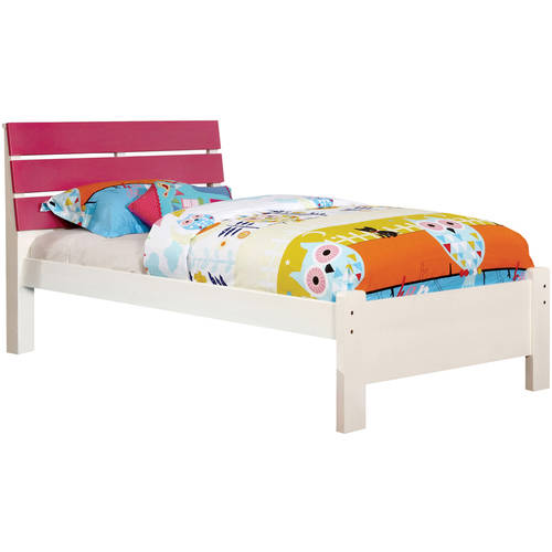 Furniture of America Danette Transitional Slatted Panel Cherry Bed, Twin