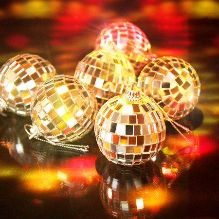 12 Pcs Mirror Balls Disco DJ Dance Decorative Stage Lighting Home Party Business Window Display Decoration 1.2 INCH - image 4 of 8
