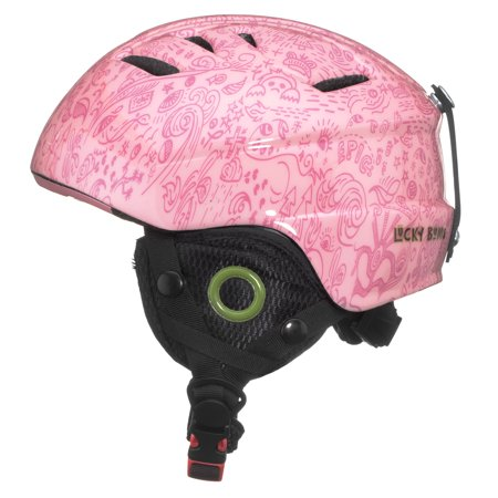 Lucky Bums Toddler Kids Alpine Doodlebug Ski Snowboard Sport Helmet, Bubblegum,