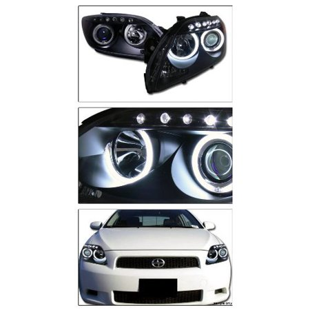 Blk Drl Ccfl Halo Led Projector Head Lights Signal Lamps Amber Scion Tc