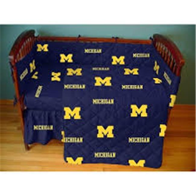 College Covers MICCSFSWPR Michigan Wolverines Baby Crib Fitted Sheet Pair, White