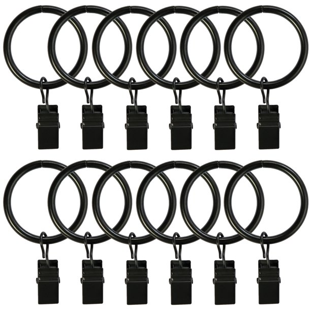Curtain Rings With Clips 25 Pack Metal