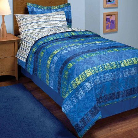 In Style Surf Stripe Bed In A Bag Bedding Set Walmart Com