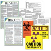 COMPLYRIGHT E50INHLTH Labor Law Poster Kit,Fed/St Labor Law,IN