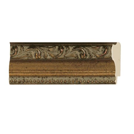 - Picture Frame Moulding (Wood) - Ornate Antique Gold Finish - 1.25