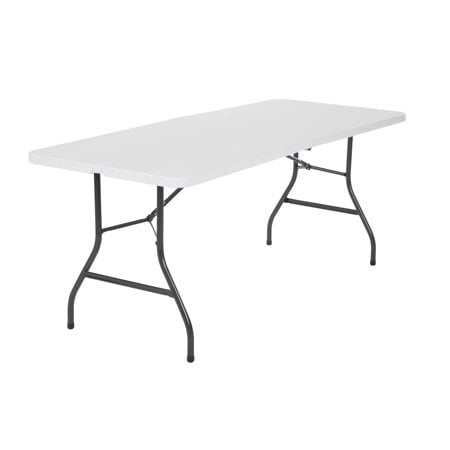 (2-Pack) Cosco 6 Foot Centerfold Folding Table, White ()