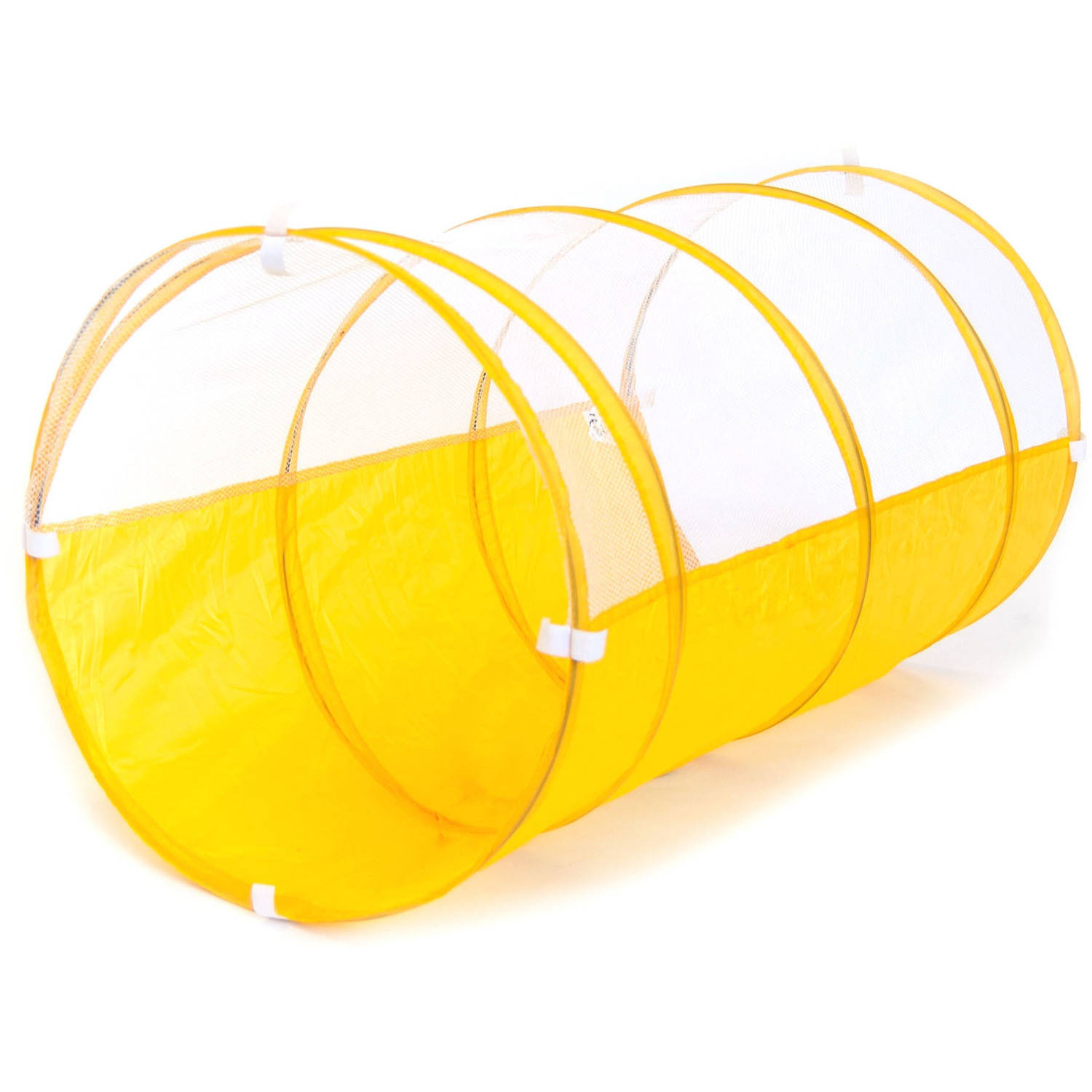 Sunshine Yellow Development Crawl Play Tunnel with Safety Meshing for Child Visibility and Tote Bag