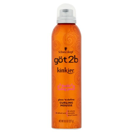 Got2b Kinkier Gloss 'n Define Curling Mousse 8 oz. Aerosol