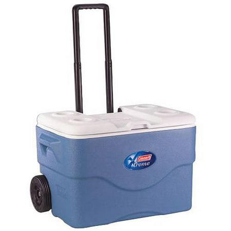 Coleman Xtreme 5 75 Quart Wheeled Cooler Blue Walmart Com