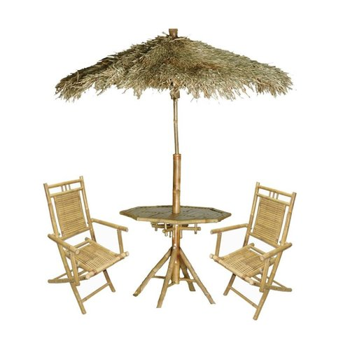 Bamboo 54 5426 Palapa Chair and Umbrella Set
